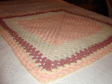 Handmade Handcrafted Crochet Afghan Throw Blanket ~ Lap blanket Square Design