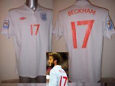 Inghilterra 17 DAVID BECKHAM CALCIO SOCCER MAGLIA JERSEY uniforme Umbro S M L XL 2XL