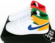Nike Air Jordan 1 Retro Mid Multi Colour Three Peat GS UK 3 4 5 6 7 US New