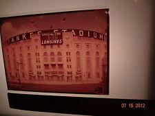 1958 5X7-inch Color Transparency Negative Yankee Baseball Stadium photo slide !!