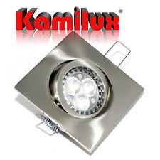 230V Bad Leuchte eckig & GU10 Fassung & 5 Watt LED Einbautiefe nur 6cm 60mm 5W