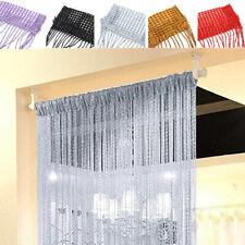 String Door Curtain Beads Window Panel Room Divider Crystal Tassel Fringe Beaded