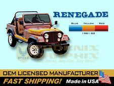 1981 1982 Jeep Renegade CJ5 CJ7 Decals & Stripes Kit