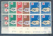 SWITZERLAND  PRO PATRIA SCOTT#B262/66 BLOCKS NH