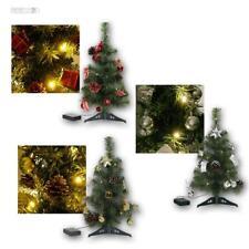 Weihnachtsbaum 45cm mit Deko & LED-Lichterkette Christbaum Tannenbaum beleuchtet