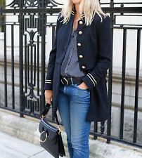Zara Navy Blue Mandarin Collar Frock Coat New Bloggers 8098/743 Small S