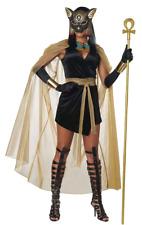 Womens Egyptian Goddess Costume Bastet Cleopatra Halloween Fancy Dress