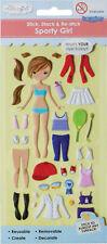 Mon studio Girl taggles-habille autocollants réutilisables