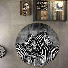 3D Zebra Stripes I113 Animal Non Slip Rug Mat Round Elegant Carpet Wendy