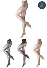 Falke 2er Pacco Donna Calce Morbide Collant,pure OPACO 20,Matt-Transparent,S-XL