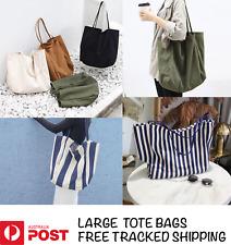 Large Korean Canvas Tote Bags Handbag Messenger Shoulder Bag Crossbody Satchel