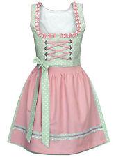Dirndl mini 50 cm hellgrün/rosa Trachtenkleid Minidirndl