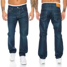 Rock Creek Designer Herren Jeans Used-Look Jeans Denim Blau LL-308 W29-W44