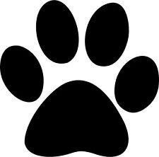Paw Print Vinyl Decal Bumper Sticker Car Window Dogs Pet Laptop Animals Puppy