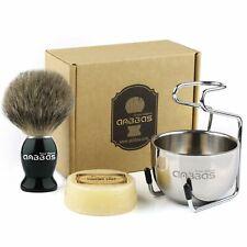 4in1 Anbbas Shaving Kits Shaving Brush + Bowl + Stand + Soap Men's Manual Shave