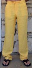 Yellow Beach Linen Pants for Men - Draw String Destination Weddings