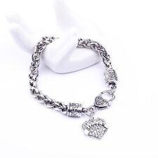 Small peach heart full drill letters SISTER family members bracelet