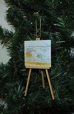 Art, Painter, Artist Easel Christmas Ornament