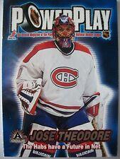 2002 ADRENELINE POWER PLAY # 20 JOSE THEODORE !!! BOX # 3