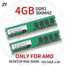 Für Micron 8GB 2x 4GB 2GB 1GB DDR2-800MHz PC2-6400 2Rx4 AMD CPU Desktop RAM DE