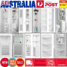 Bathroom Storage Cabinet Display Cupboard Corner Shelf Bookcase Organiser Rack