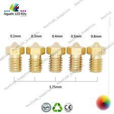 3D Printer Nozzle J-Head Brass nozzle 0.2,0.3,0.4,0.5,0.8mm V6 V5 1.75 RepRap
