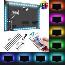 TV LED Backlight Strip USB RGB 5050 Background Lighting Remote Kit 5V 30Leds/M