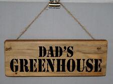 Serre Signe Plaque Papa Papa Grand-père Man Cave Abri Garage extérieur bois