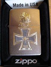 Zippo Eisernes Kreuz 1939 Helm Schwert Eichenlaub Ritterkreuz WWII WH Iron Cross
