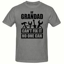 Se Grandad can't FIX che nessuno può T SHIRT, Divertenti Novità Mens T shirt,sm-2xl