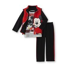 Mickey Mouse Infant & Toddler Boy's Vest Shirt & Sweat Pants 18M 2T, 3T,4T & 5T
