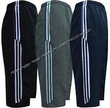 Nuevo para hombre de deportes de verano en funcionamiento Gimnasio 3/4 elástico Jogging Raya Corta Pantalones S-XXL