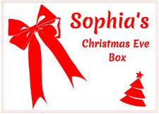 Personalised Bow Christmas Eve Box Sticker DIY