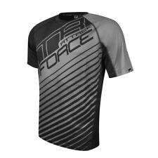 FORCE MTB ATTACK LOOSE CYCLING MTB T-SHIRT BLACK-GREY Short Sleeve Jersey 900152