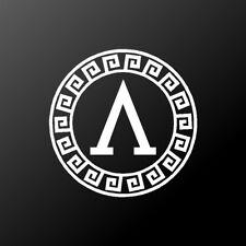 Lambda Shield Vinyl Decal Spartan Λ Symbol  Car Window Laptop Sticker