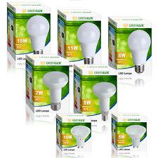 LED Leuchtmittel Birne Lampe E27 E14 GU10 R50 R63 Greenlux Großhandelspreise !!!