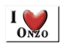 CALAMITA LIGURIA ITALIA FRIDGE MAGNET MAGNETE SOUVENIR I LOVE ONZO (SV)--