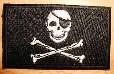SKULL & CROSS BONES Jolly Roger Flag Embroidered PATCH