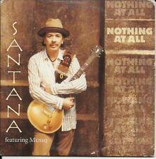 Musiq CARLOS SANTANA Nothing At All MIX CARD SLEEVE 2TRX CD SIngle USA seller
