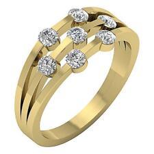 Bar Set Engagement Wedding Ring SI1 H 0.80Ct Real Diamond Yellow Gold Appraisal