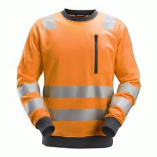 Snickers 8037 AllroundWork, Hi-Vis Sweatshirt CL2/CL3 - Orange
