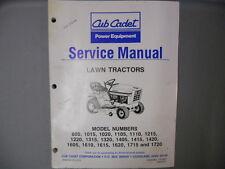 Cub Cadet Factory Service Manual Lawn Tractors