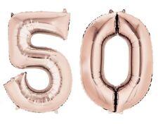 doré rose âge 50 ans hélium géant Ballon PLAT CHIFFRES 50th Fête d'anniversaire