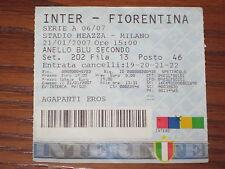 INTER FIORENTINA BIGLIETTO TICKET 2006/07 SERIE A