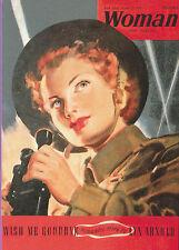 ROBERT  OPIE  POSTCARD  -  WARTIME  ADVERTISING  -  WOMAN  MAGAZINE