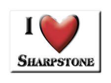 SOUVENIR UK - ENGLAND MAGNET UNITED KINGDOM I LOVE SHARPSTONE (SOMERSET)