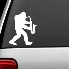 B1140 Bigfoot Sasquatch Sax Decal Sticker Hiker hiking camper saxophone camping