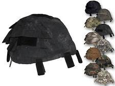 MFH Grössenverstelbarer Helmbezug mit Taschen Stahlhelm Cover Bezug Tarnbezug