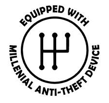 Stick Shift Manual Transmission Anti Theft Millennial Vinyl Decal Sticker Funny