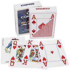 Copag Spielkarten 100% Plastik, Einzeldeck Poker Size, regular oder jumbo Index